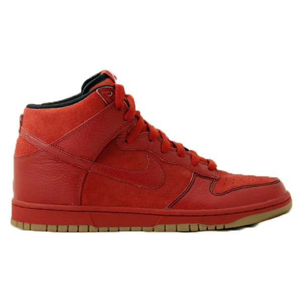 Кеды Nike Dunk High red