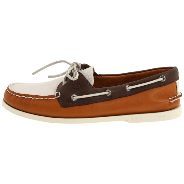 Топсайдеры Sperry dk brown/tan/wh