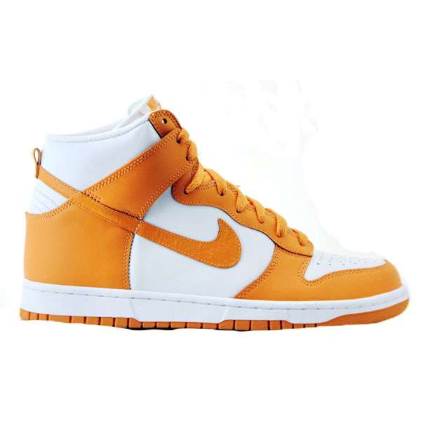Кеды Nike Dunk High white-bright mandarin